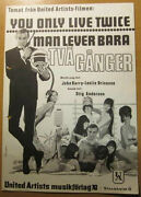 James Bond - You Only Live Twice Connery Abba Barry Bricusse Swedish Sheet Music