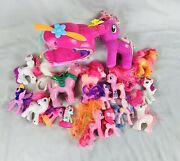 My Little Pony Toys, Total Of 19 Pcs., 1 Soft Pony, 1 Heliocopter, Clean
