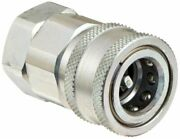 Dixon Vhc400 Steel Hydraulic Quick-connect Fitting, Coupler, 1/2 Coupling X 1/2