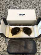 Fred Paris America Cup 22k Gold Plated Sunglasses