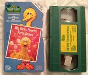 Rare And039my Sesame Street Home Video Big Birdand039s Favorite Party Gamesand039 1988 Vhs