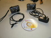 2 Kodak Z1275 Easy Share Cameras For Parts Plus Accessories/manual