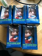 Vintage Tomy Windup Kid-a-longs Boy On Wagon Wind Up Toy Lot Of 5 Rare