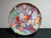 Christmas Collector Plates Franklin Mint Not A Creature Was Purring