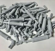Lego 50 Light Bluish Gray Truck Exhaust Pipe With Technic Pin And Flat End Parts