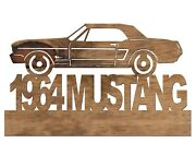 1964 Ford Mustang Handmade Wooden Car Automobile Decor Plaque