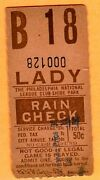 1940's/50's Phillies/shibe Park Ticket Stub-special Ladies Day 50 Cents