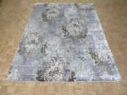 9and0391 X 12and0391 Hand Knotted Sky Blue Modern Abstract Tibetan Oriental Rug G4303