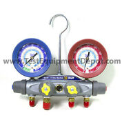 Yellow Jacket 46040 Manifold Only R/b Gauges Psi R-22/134a/404a