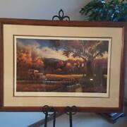 Terry Redlin Authentic Wednesday Afternoon Print - Framed, Signed, W/ C.o.a.
