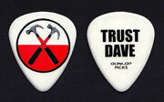 Roger Waters The Wall Dave Kilminster White Guitar Pick - 2012 Tour Pink Floyd