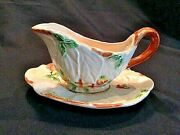 Brentleigh Ware Beech Sauce Boat And Saucer Circa And0391920-39 Staffordshire England