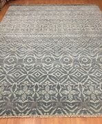 8' X 10' New Soft Melody Indian Oriental Rug - Modern - Hand Made - 100 Wool