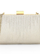 Whiting And Davis Crystal Drips Clutch Bag Color Pearl Unique Andtrendy Imported