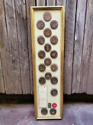 One Of A Kind Vintage Chinese Framed Casino Chips In A Vintage Wooden Frame