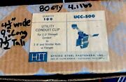 Hit Utility Conduit Clip For 1/2 Conduit-3/8 And Smaller Rods/flanges Ucc-500