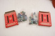 Two Boxes Usa Made Marbles Red Goose Shoes Advertising A2l Akro Agate Type