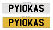 Private Number Plate Lithuanian Word Drunker