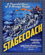 8562.decoration Movie Poster.home Room Wall Art Design.stagecoach Cowboy Film