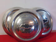 Vintage Chevy Dog Dish Hubcaps Lot Of 3