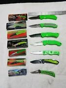 Tactical Folding Stainless Steel Pocket Knife Lot Of Seven Knives