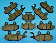 Front Middle And Rear Composite Brake Pads For Yamaha Rhino 700 Fi Yxr700 2008-13