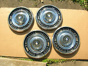 1967 Buick Special 14 Hubcaps.set-4.minor Dents/dingsbut Pretty Decent Drivers