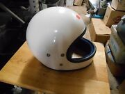 Nos Vintage Retro Buco Solid White Large Full Face Motorcycle Helmet 1825 4