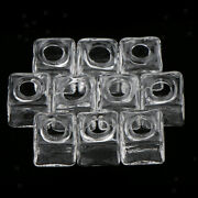 10pcs Square Glass Ball Bottles Pendant Charms Wishing Bottle Diy Necklace Craft