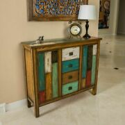 Traditional Wood Cabinet W Drawers Rustic Apothecary Chest Decor Home Furniture
