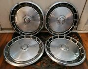 Vintage Set Of 4 Oem 1971-1973 Ford Mustang 14 Hubcaps Wheel Covers D1zz-1130-b