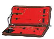 Fly Fishing Tying Stream Side Table Vise Tool Kit Vice Leather Export Quality