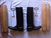 Vibram Military Riding Boots. Antique.pure Leather. In Great Condition.