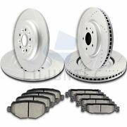 Front Rear Brake Rotors And Ceramic Pad For Ford Explorer Flex Taurus Lincoln Mks