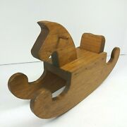 Vintage Miniature Wooden Rocking Horse Toy Doll House Artist Signed Don Darragh