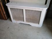 Vintage Metal Radiator Cover With Lid Approx 46 X 27 X 12 Pick Up Only