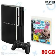 Ps3 - Console 80gb Black + Little Big Planet + Official Gamepad + Equipment
