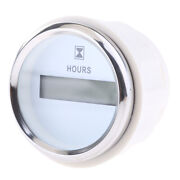 Round Digital Hour Meter Hours Guage - 99999.9 Led Display - 52mm / 2 White