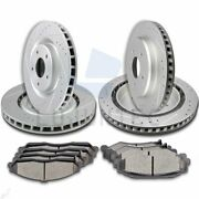 Brake Ceramic Pads And Rotors Front And Rear For 2005-2012 Chevrolet Corvette