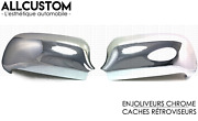 Set Chrome Door Mirror Covers Caps Wings Molding Trim For Audi A4 B5 1999-2001