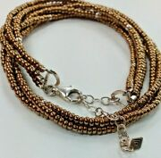 Silpada Three Strand Bronze And Sterling Silver Bead Necklace 16 N1591 049pie