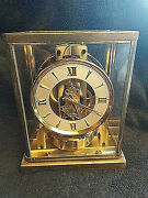 Vintage 1950/60and039s Jaeger Lecoultre Atmos 526-5 Perpetual Motion Mantle Clock