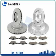 Front Rear Discs Brake Rotor And Ceramic Pads For M-benz Glk350 10-15 Drill Slot