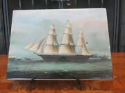 Vintage Wedgwood Queens Ware Nautical Sea Witch Ship Polychrome Plaque Tile