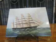 Wedgwood Queensware Nautical Great Republic Ship Skillet Polychrome Plaque Tile