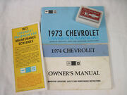 Vintage Chevrolet Owner's Manuals 1973 And 1974 Plus S And K Chevrolet Paperweight