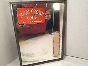 Early Vintage Royal Crown Cola Mirror With Thermometer- Very Rare