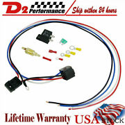 Universal Electric Radiator Engine Fan Thermostat Temperature Switch Relay Kit