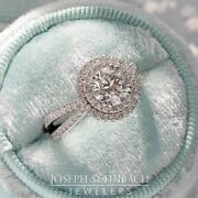 Platinum Double-halo Diamond Ring Mounting Only Size 7