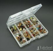 Tackle Fly Box With Assorted Mixed Dry Flies For Trout Fly Fishing, Starter Kit